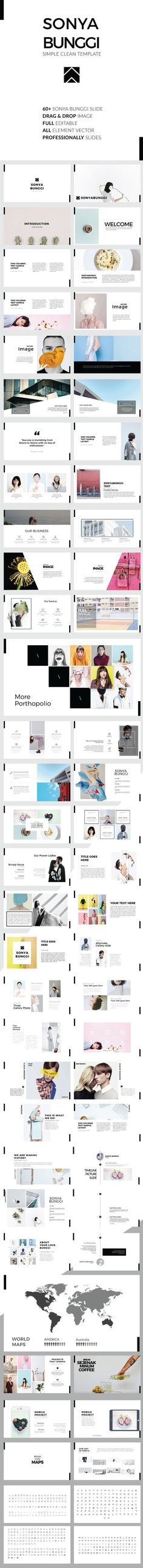 Sonya Bunggi - Simple Clean Keynote Template
