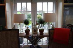 Unique #wood #console with #symmetrical #decor at #Southampton #Mecox #interiordesign #MecoxGardens #Hamptons #furniture #shopping #home #decor #design #room #designidea #vintage #antiques #garden