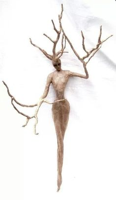 Tree Spirit - one of a kind wall sculpture by rdirenna on Etsy Tree People, Spirited Art, Driftwood Crafts, Paperclay, Wire Art, Wood Sculpture, Wood Carving, Art Dolls, Paper Art