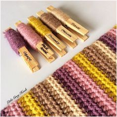 Another day and another set of coloured pegs this palette is a little more muted than my last few, but still very pretty all the same. Wrist warmers will be up for sale soon in my Etsy shop, or you can buy/ order direct from me on here £12 a pair plus postage.