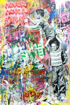 I like this artist because he uses colors to explain a positive message Best Graffiti, Graffiti Wall Art, Graffiti Wallpaper, Mural Wall Art, Graffiti Painting, Pop Art, Street Art Banksy, Positive Art, A Level Art