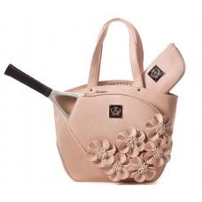 SlamGlam - Court Couture Cassanova Dusty Rose Tennis Tote Bag 85179764401f2