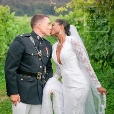 Beautiful interracial couple love her wedding dress