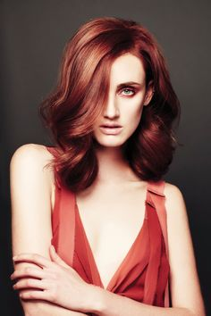 Women's Cut and Colour - Michael Kelly, Oscar Oscar, NSW. Make-up artist, Molly Oakfield.  (love the color)