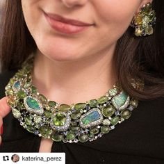 Thank you so much @katerina_perez for your lovely words. It is always such a pleasure to meet with you and chat about our shared passion for fabulous gems and fine jewellery. #Repost @katerina_perez ・・・ Every time Margot McKinney @margotmckinney is in London she brings some treats to show me.  Each piece of hers is so joyful and colourful, a true feast for the eyes! In this picture I am wearing a bib necklace with #paraiba #tourmalines in different hues, #opals and #diamonds…