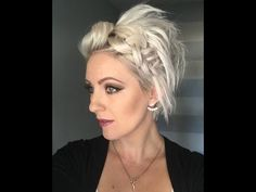 Short Hairstyle Tutorial - YouTube