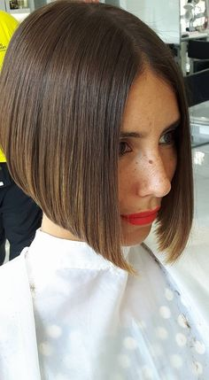 Once the stylist had cut Brians hair into this pretty bob..it seemed so natural for him to wear lipstick too #WedgeHairstylesShort