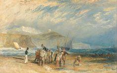 Folkestone Harbour and Coast to Dover. Joseph Mallord William Turner. 1829. #folkestone #dover #kent #england