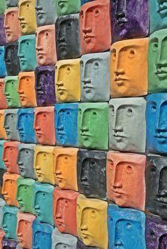João Paulo Coutinho - Faces, Escultura de Luís Queimadela,Glória Aveiro