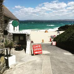 The Porthmeor Beach Cafe, St Ives 17 Breathtaking Places To Eat In Cornwall Cornwall England, St Ives Cornwall, Devon And Cornwall, Newquay Cornwall, Yorkshire England, Yorkshire Dales, England Uk, Cornwall Breaks, St Ives England