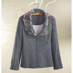Soft Boiled Wool Swirl Jacket - Women's Clothing, Jewelry, Fashion Accessories and Gifts for Women with a Flair of the Outdoors | NorthStyle...