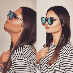 Bethy Blue mirror sunglasses.
