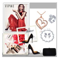 """""""VIPME Love and Romance – Contest with a Prize!"""" by melisa-j ❤ liked on Polyvore featuring Anja, Christian Louboutin, Sergio Rossi, women's clothing, women, female, woman, misses, juniors and love"""