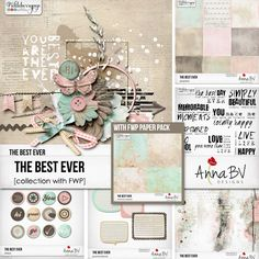 Pickleberrypop :: Bundles/Collections :: The Best Ever collection with FWP Live Love Life, How To Memorize Things, Gallery Wall, Collections, Paper, Frame, Beautiful, Design, Picture Frame