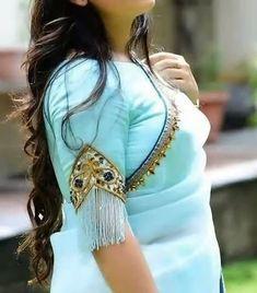 Best Blouse Designs, Sari Blouse Designs, Designer Blouse Patterns, Bridal Blouse Designs, Sleeves Designs For Dresses, Sleeve Designs, Stylish Blouse Design, Saree Blouse, Sarees