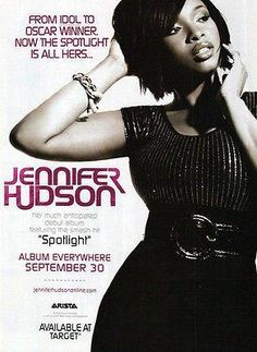 Jennifer Hudson 2008 AD Spotlight Debut Album Photo Illustration Graphic Arts