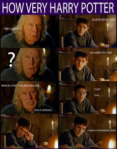 What is this?? Haha Merlin and Harry Potter