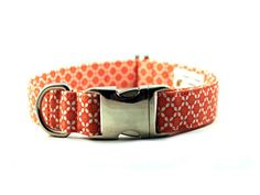 Coral Posies Fabric Dog Collar - Plastic Buckle. $16.50, via Etsy  | for Miss Frankie