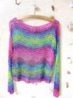 Rainbow ... háčkovaný svetrík
