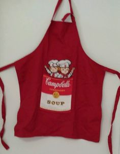 """Campbells Soup Collectable Apron with Pocket   """"Campbell Kids"""" (metal buckle)"""