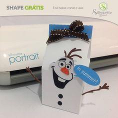 Shape da semana 18 Silhouette Brasil - Boneco de Neve Olaf By Nilmara Quintela