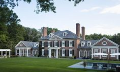 Dream House Exterior, Dream House Plans, Federal Style House, Georgian Style Homes, Colonial Mansion, Connecticut, Dream Home Design, Classic House, Building A House