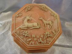 Unicorn Incolay trinket box by andMeesha on Etsy, $25.00