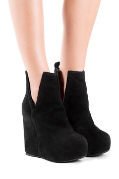 e792de20f6b2 Jeffrey Campbell Shoes OHARE Platforms in Black Suede