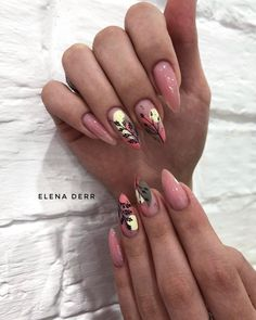 Pin on French Tip False Nails Almond Acrylic Nails, Fall Acrylic Nails, Gorgeous Nails, Pretty Nails, Nail Manicure, Gel Nails, Minimalist Nails, Dream Nails, Dope Nails