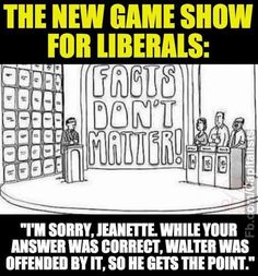 Instead of game show, it should be reality show. These liberals have gone off to la la land. It's downright terrifying! Btw...I can't remove that WOW comment. We republicans aren't hypocrites...we're not crybabies.