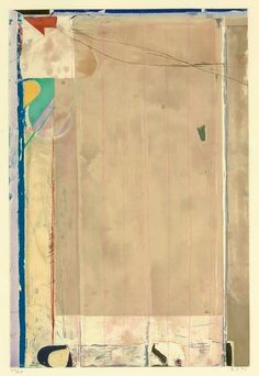 Title: TOUCHED RED Artist: Richard Diebenkorn American) Year: 1991 Materials/Techniques: Color aquatint, spitbite, soft ground and drypoint Richard Diebenkorn, Robert Motherwell, Franz Kline, Abstract Drawings, Abstract Art, Abstract Painters, Bay Area Figurative Movement, Tachisme, Ocean Park