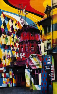 Moulin Rouge by Eduardo Kobra StreetArt GraffitiArtist Graffiti Art, Kobra Street Art, Brazil Art, Best Street Art, Country Artists, Inspiring Things, Land Art, Street Artists, Urban Art