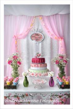 Festa da minha princesa Maria Luísa! Decoração Trocentas Idéias! - Princess Party
