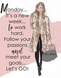 Fitness Motivation, Monday Motivation, Morning Motivation, Monday Quotes, Motivational Monday, Good Thoughts, Boss Babe, Girl Boss, Woman Quotes