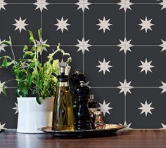 These Moroccan Starry Night Tiles might be my favorite, and they're an affordable peel-and-stick version of a classic style.