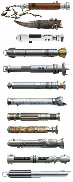 Lightsabers - I can match most of these up with their owners