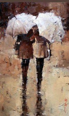 """""""Shopping, Rain or Shine"""" by Andre Kohn  Me and @Rachel Spillane :D"""