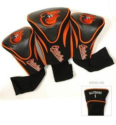 Baltimore Orioles Contour Gollf Club HeadCover - 3 Pack