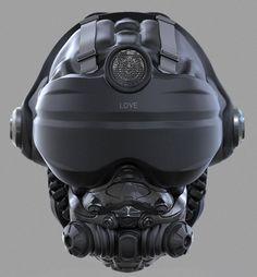 Ryan Love shared 3 3D Helmet Concepts done in Zbrush   CGVILLA