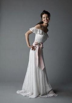 Wedding elegant long crochet women dress por AsDidy en Etsy, $955.00