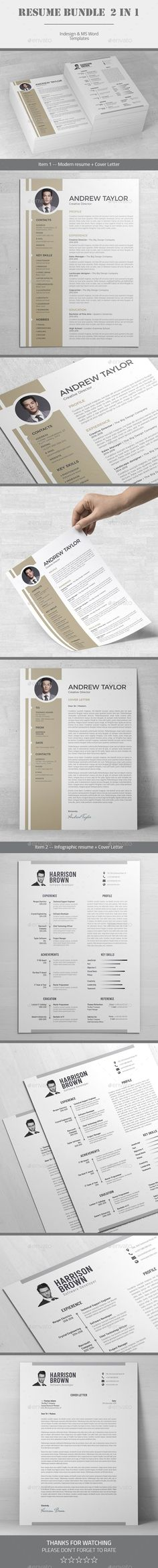 Resume Word Template Cv Template With Super Clean And Modern Look