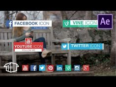 Social media Lower thirds Tutorial - Adobe After Effects template CC - YouTube
