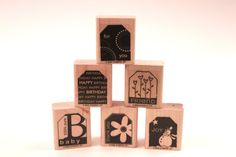 Typography Tags Decorative Lot Vintage Rubber Stamp Set - Stampin Up - Card Making - Crafts  161223 by SirStampinton