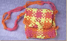 learn how to turn three woven pot holders into a purse!