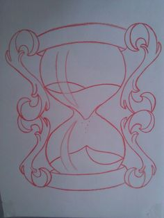 Hourglass Sketch by Painispleasure-tats