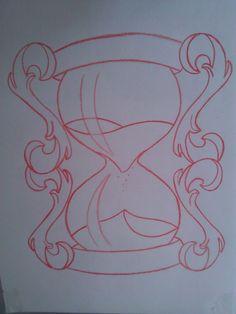 Hourglass Sketch by Painispleasure-tats