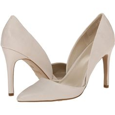 MIA Margo High Heels, White ($26) ❤ liked on Polyvore featuring shoes, pumps, white, pointy toe high heel pumps, pointy toe shoes, pointed-toe pumps, white pumps and pointed toe shoes