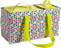 Amazon.com: Large Utility Tote Bag With Handles 2 Zippered Coolers, Heavy Duty Fabric - Beach Picnic Basket, Collapsible Grocery Cart, Insulated Lunch Bag for Work, Car Trunk Organizer For Women(Leaves): Kitchen & Dining Beach Picnic, Picnic Spot, Tote Bag With Pockets, Large Utility Tote, Car Trunk, Tote Organization, Insulated Lunch Bags, Bag Storage, Diaper Bag