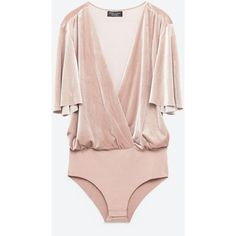 SPECIAL EDITION VELVET BODYSUIT - View all-TOPS-WOMAN   ZARA United... ($40) ❤ liked on Polyvore featuring intimates, shapewear, body and zara