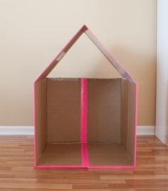 cardboard box house gif best of collapsible cardboard playhouse cardboard houses of cardboard box house gif. Cardboard Houses For Kids, Cardboard Playhouse, Build A Playhouse, Cardboard Crafts, Projects For Kids, Diy For Kids, Crafts For Kids, Forts En Carton, Diy Karton
